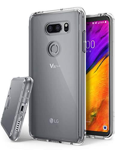 Ringke LG V35 ThinQ Hülle, [Fusion] Transparent Panzer PC Rückseite Handyhülle Cover [Verbesserter Schutz der Ecken] Leichte TPU Stoßfänger Schutzhülle für LG V 35 ThinQ 2018 - Clear
