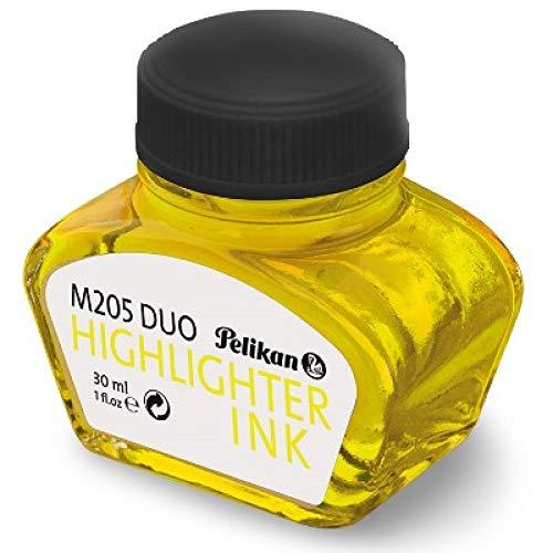 Pelikan 344879 Fluoreszierende Textmarker-Tinte für Füllhalter M 205, 30 ml, 1 Stück, gelb