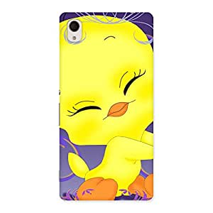 Delighted Yellow Tweet Back Case Cover for Xperia M4 Aqua