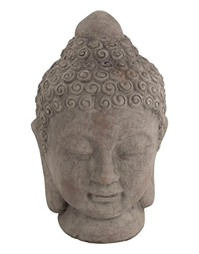 Deko Figur Buddha dunkelgrau