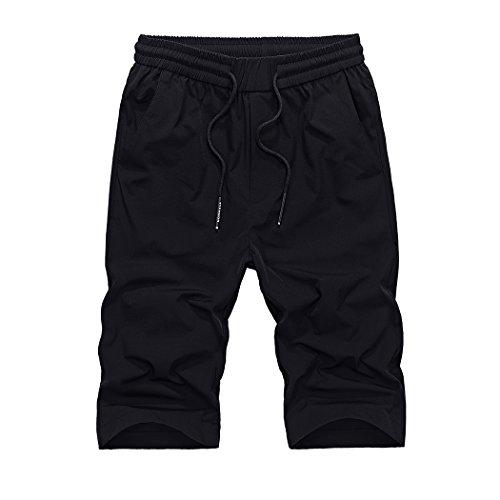 WALK-LEADER -  Pantaloncini sportivi  - Basic - Maniche a 3/4 - Uomo Black-02