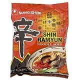 Nongshim Shin Ramyun sopa de fideos - Spicy 4.2 onzas (paquete de 5).