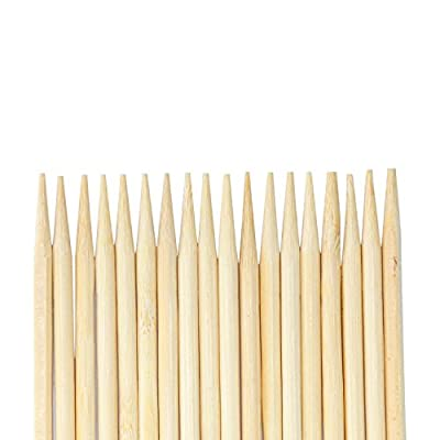 20cm, 8 inch 5mm bamboo skewers ideal for Kebab and Corn on the Corb, Bamboo Roasting Sticks, Skewers, Thick Extra Long Heavy Duty Wooden Skewers, 100 Pieces. Perfect for Hot Dogs, Kebabs ,Sausage, Eco and Environmentally Safe 100% Biodegradable (Proud to