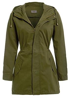 SS7 Women's Canvas Cotton MAC Ladies Trench Coat, Black, Khaki, Size 8 10 12 14 16