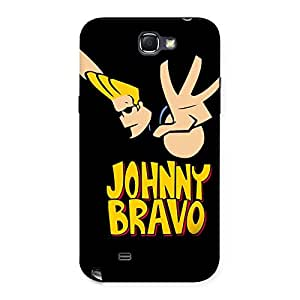 Stylish Brave Black Back Case Cover for Galaxy Note 2