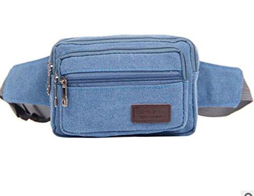 ZYT Jahrgang Leinwand Taschen durch Männer und Frauen Geldbeutel Mode Mehrzweck rucksack Blue