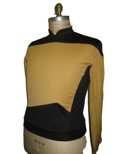 Star Trek - The Next Generation - Uniform Shirt - Gold - M (Star Trek Next Generation Kostüm Shirt)