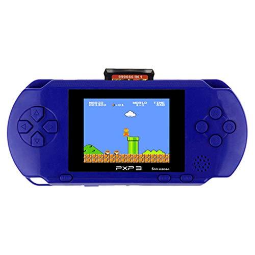elkonsole, Retro Spielkonsole, 16-Bit-Spielekonsole 2,7 Zoll Farb-Digital-TFT-Bildschirm, LCD Game Player, das Beste Geburtstagsgeschenk für Kinder (Blau) ()
