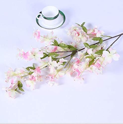 APOO Künstliche Blume Hartriegel Blume High-End Hochzeitsdekoration White Wedding Items Innenausstattung Maßwerk Wand, Light Pink (Hartriegel-künstliche Blume)