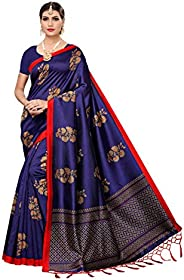 Anni Designer Women's Art silk with blouse piece Saree(Free S