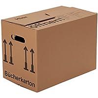 BB-Verpackungen, Cajas para libros, 10 piezas, (profesional) ESTABLE + CANAL DOBLE - Mudanza Cartón Cajas de embalaje Libros Cajas de mudanza Caja