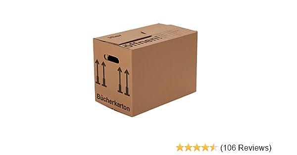 Sehr 15 Bücherkartons (Profi) STABIL + 2-WELLIG - Umzug Karton Kisten OZ27