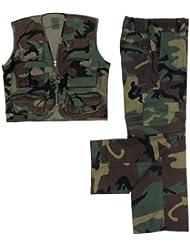 Kinder BW US Army Anzug Weste + Hose woodland S-XXL (122-176) 146/152,woodland 146/152,Woodland