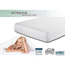 Allsana Allergiker Matratzenbezug 180x200x20 cm Allergie Bettwäsche Anti Milben Encasing Milbenschutz für Hausstauballergiker