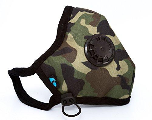 Cambridge Mask Company Militärische N99 Waschbare Atemschutzmaske mit NEUEN anpassungsfähigen Ohrriemen Radfahren / China / Indien / Männer / Frauen / Kind / Kleinkind / Laufen / Reisen / Staub (Gas Green Mask)
