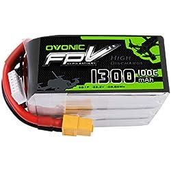 OVONIC FPV Lipo batería 1300mAh 22.2V 6S 100C