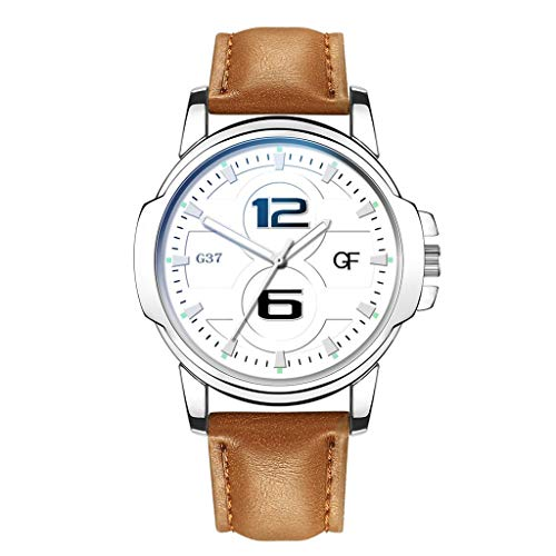 Armbanduhren Herren Quarzuhr,Evansamp 2020 Neue Luxusuhren 12/6 Display Quarzuhr Edelstahl Casual Armbanduhr(C)