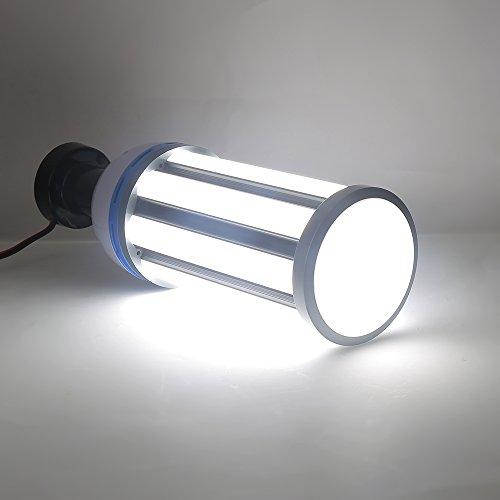65W E27 Sockel LED Maiskolben Birnen LED Mais-Birne LED Birne 6000K Tageslicht weiße LED-Licht Fixture Straße Large Area Lighting Bulb AC 85-265V (Deckenventilator Vier Licht-kit)