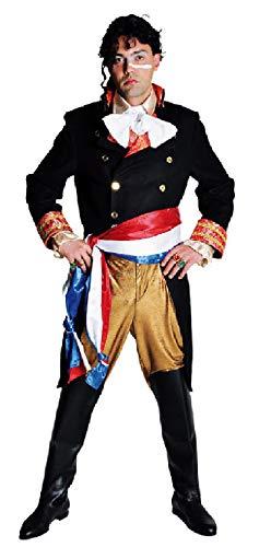 Revolutionäre Kostüm - M210244-XL-A schwarz-Gold Herren Offiziers Kostüm Revolutionär Gr.XL