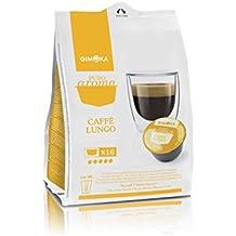 Gimoka COMPATIBLES con Nescafè Dolce Gusto, 16Cápsulas Intenso, cremoso, Dulcet Dek, Terciopelo (Café largo)