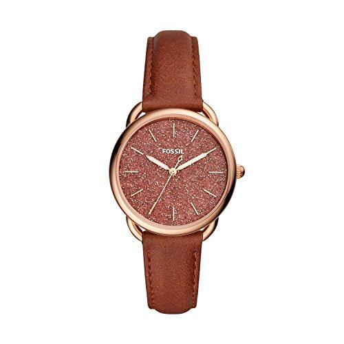 Fossil Damen Analog Quarz Uhr mit Leder Armband ES4420