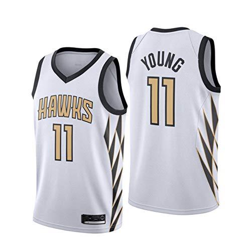 Herren-Basketballtrikot Terry Young # 11 - NBA 18-19 Jahreszeit Philadelphia Eagles Urban Version weißes Trikot Cooles Stoffbesticktes Swingman Trikot Shirts,S(170cm/50~65kg)