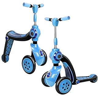 Allkindathings 2-in-1 Switch Scooter, Transforms From Trike To A Scooter, Ride-on,