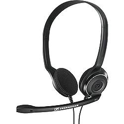 Sennheiser PC 8 USB - Auriculares de diadema abiertos USB (micrófono con cancelación de ruido, sonido estéreo) color negro