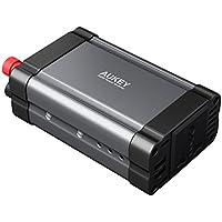 AUKEY Wechselrichter 300W 12V-300V mit 2 Steckdosenanschlüssen & 2 USB-Anschlüssen je 2.4 A für Laptops, Digitalkameras, Smartphones, Ventilatoren usw.