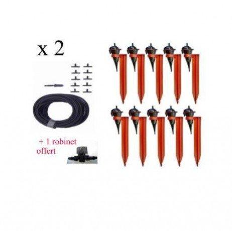 Kit réserve 20 Goutteurs Iriso avec supports + 1 robinet Offert