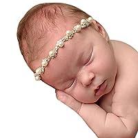 Oyedens Baby Toddler Kids Crystal Headband Pearl Rhinestone Headbands Phtography Props