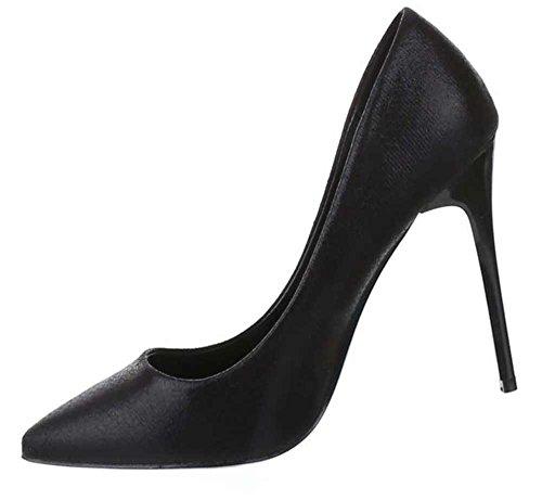 Frauen High Heels mit 11 cm Stiletto-Absatz in Schwarz und Größe 39 Klassische Schuhe in Lacklederoptik prKn3bgOO