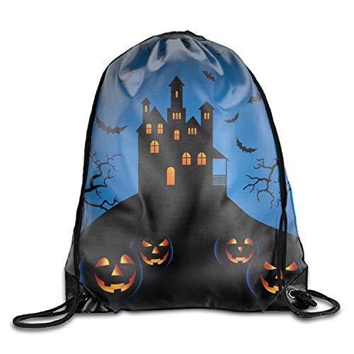 Michael Staton Halloween Blue Night Unisex Sporttasche mit Kordelzug für Mädchen und Jungen (Michael Jungen Halloween)