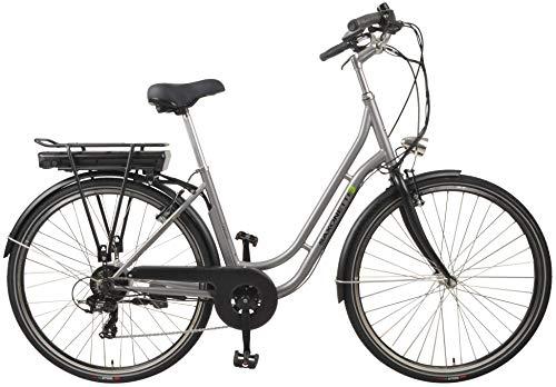 "SAXONETTE Fashion 28\"" Retro E-Bike 10,4 Ah 7-Gang Shimano Pedelec Elektrofahrrad (Silber matt)"