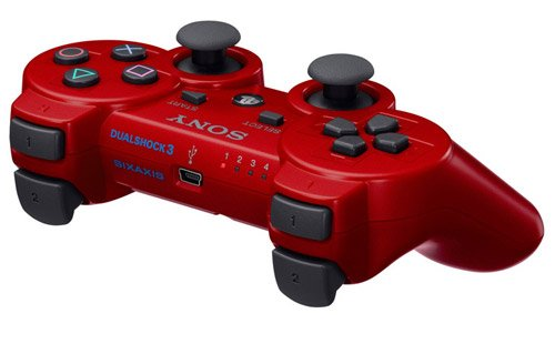 PlayStation 3 - DualShock 3 Wireless Controller, rot - Blau Controller Wireless Ps3