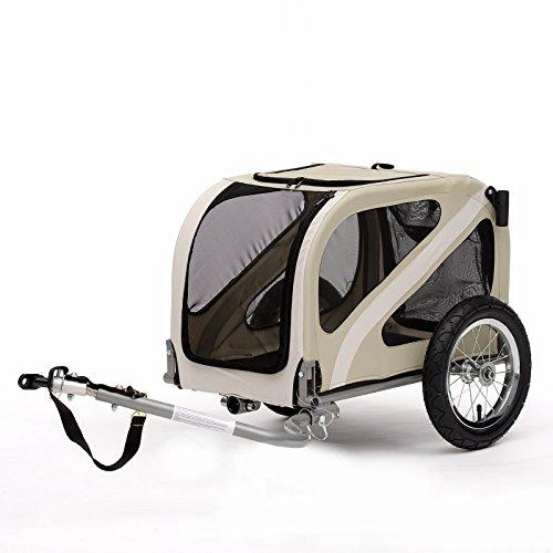 Blue Bird Mini Hunde Fahrrad-Anhänger (inkl. Deichsel, Kupplung, Schiebebügel und Buggyrad), geeignet für kleine Hunde