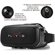 Irusu Play Adjustable Virtual Reality Lenses With Magnetic Clicker For All Smartphones With Gyroscope