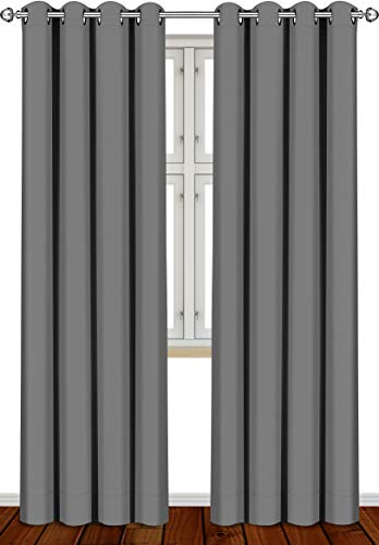 Utopia bedding - tende oscuranti e termoisolanti per finestre/pannelli/tende (2x 140 x 245 cm, grigio)