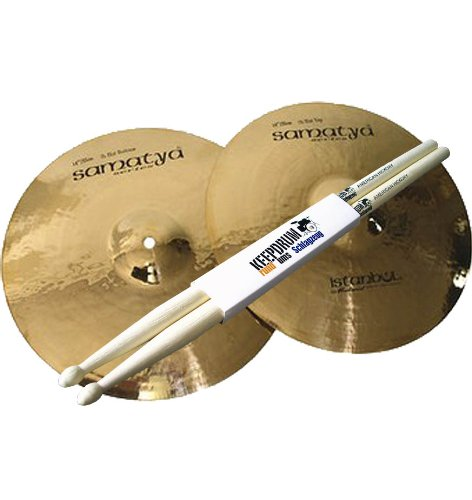"Istanbul Mehmet Samatya Brilliant Hi Hat 14"" Becken + KEEPDRUM Drumsticks GRATIS!"