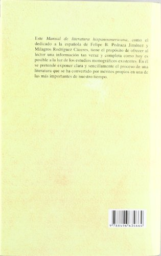 Manual de literatura hispanoamericana VII. Cronologia por Javier De Navascues