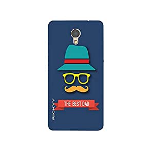 RICKYY the_best_dad design printed matte finish multi-colored back case cover for Lenovo P2