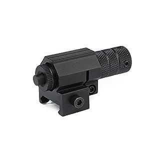 IRON JIA'S Lunettes de Visée Tactique visant Portée Red Dot Faisceau Laser Sight avec Mount for Gun Rifle Pistolet Gun (Weaver Mount) Hunting Scopes
