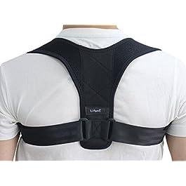 LifenC – Correttore posturale regolabile per schiena, adatto in caso di dolore alle spalle o alla schiena, per uomini…