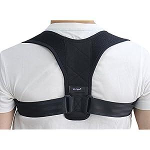 LifenC - Correttore posturale regolabile per schiena, adatto in caso di dolore alle spalle o alla schiena, per uomini…