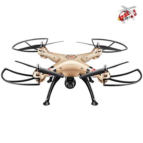 Syma X8HW Live FPV RC Quadrocopter Drohne mit HD Kamera WIFI Kopflos Höheneinstellung Golden