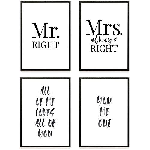 Heimlich® Premium Poster (4 Stück in DIN A3)   Viele weitere Motive im Shop   ohne Rahmen » Love «