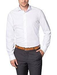 eterna Langarm Hemd Slim Fit Popeline Unifarben