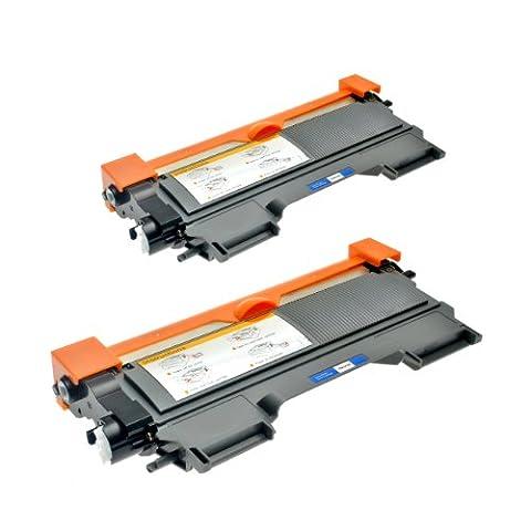 2 Toner für TN-2220 TN-2010 Brother MFC-7360N HL-2240DR L HL-2250DNR HL-2270DW HL-2130 DCP-7055 DCP-7057 HL-2132 DCP-7055 W HL-2130 R HL-2132 R - XXL Füllmenge, Schwarz je 5.200