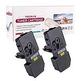 RadTek 2er Kompatibel TK-5240 Toner Ersatz für Kyocera TK-5240K für Kyocera ECOSYS M5526cdn, M5526cdw, P5026cdn, P5026cdw | 2 Schwarz, 4,000 Seiten