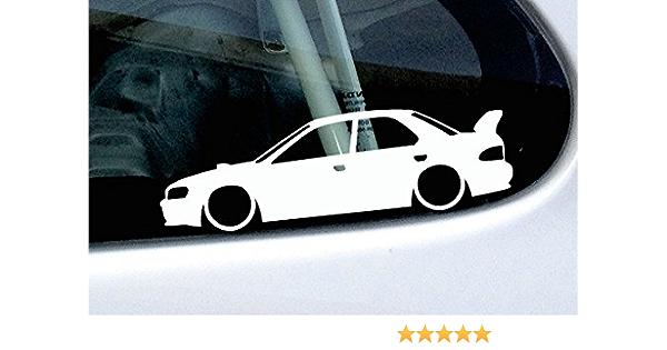 Abgesenkt Auto Form Aufkleber Basiert Auf Subaru Impreza Wrx Sti Gen 1 Gc8 Mit Flügel Groß Auto